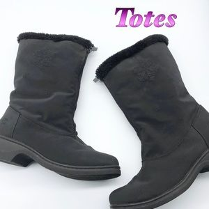Totes- Black All weather Boot Rain & snow 7